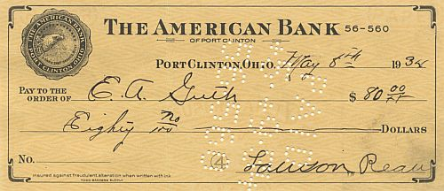 American Bank historic stocks - old certificates