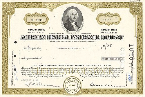 American General Insurance Company (Portrait George Washington)