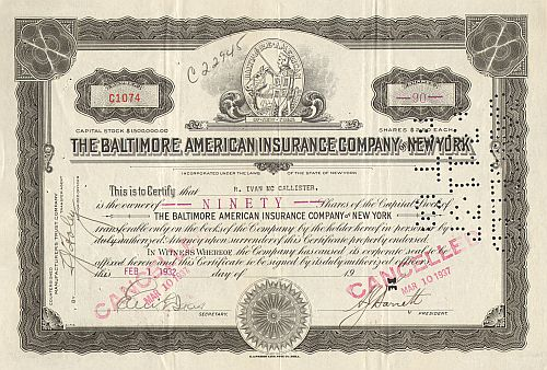 Baltimore American Insurance Company of New York