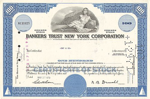 Bankers Trust New York Corporation (100 Shares)