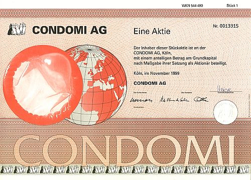 Condomi AG historic stocks - old certificates