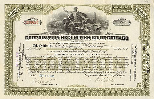 Corporation Securities Co. of Chicago