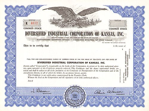 Diversified Industrial Corporation of Kansas, Inc.