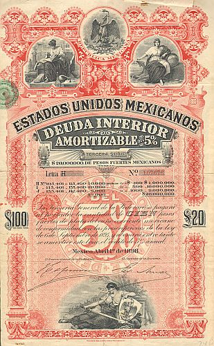 Estados Unidos Mexicanos (United States of Mexico) 1898 100$