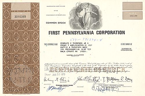 First Pennsylvania Corporation