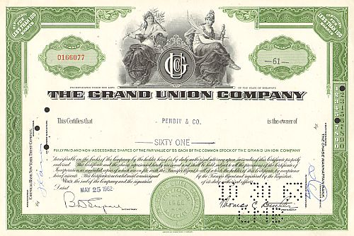 Grand Union Company (alte Vignette)