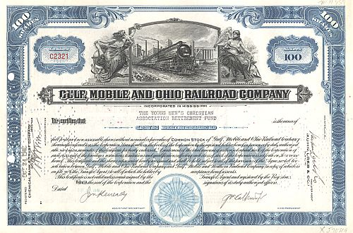 Gulf Mobile and Ohio Railroad Company historische Wertpapiere - alte Aktien