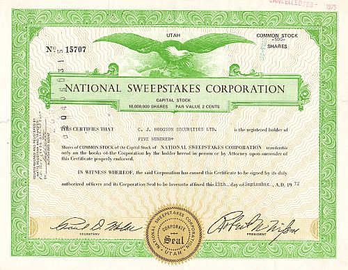 National Sweepstakes Corporation