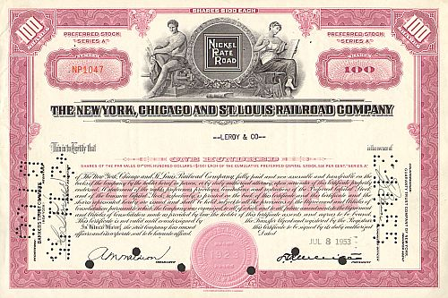 New York, Chicago and St. Louis Railroad Company (Nickel Plate Road)