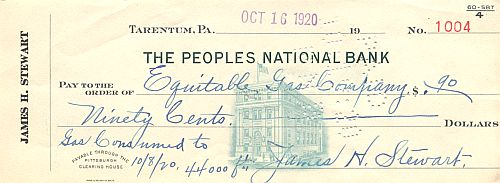Peoples National Bank historic stocks - old certificates