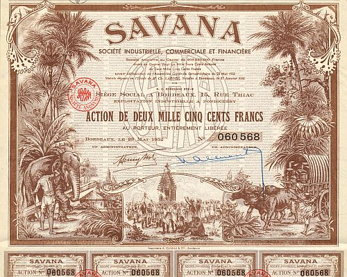 SAVANA Societe Industrielle, Commerciale et Financiere