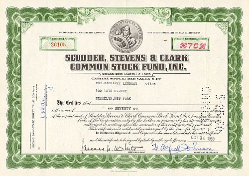 Scudder, Stevens & Clark Common Stock Fund, Inc.