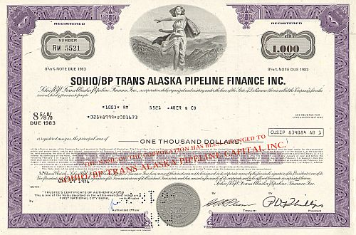 Sohio/BP Trans Alaska Pipeline Finance Inc.