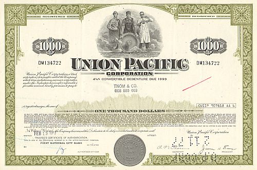 Union Pacific Corporation (1000$ Bond)
