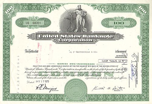 United States Banknote Corporation (100 Shares)