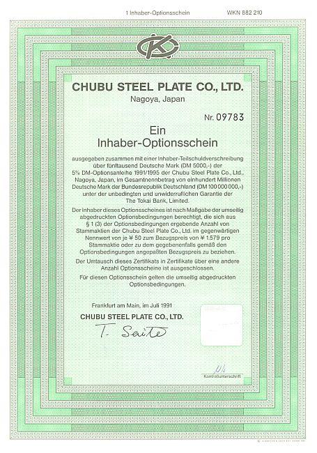 Chubu Steel Plate Co. Günstige Optionscheine bekannter Marken ...