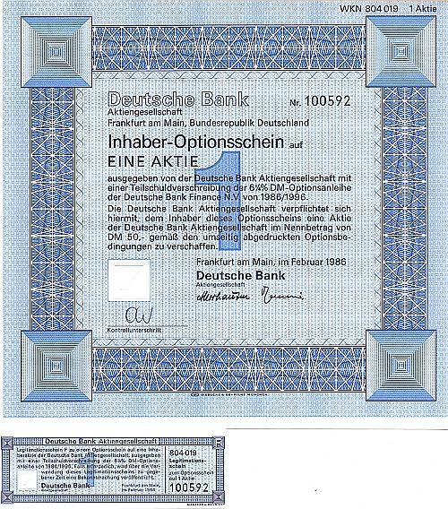Deutsche bank g nstige optionscheine bekannter marken for Design firmen deutschland