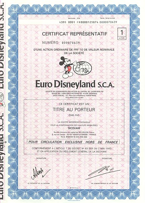 Euro Disneyland S C A