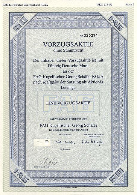 Fag Kugelfischer Georg Sch 228 Fer Kgaa Historische