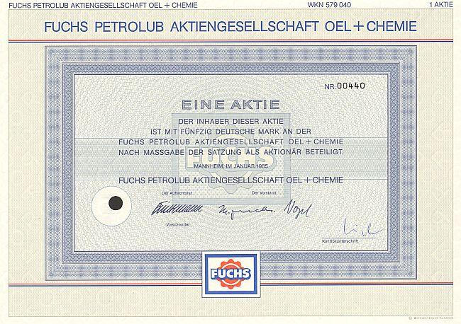Fuchs Petrolub Aktien