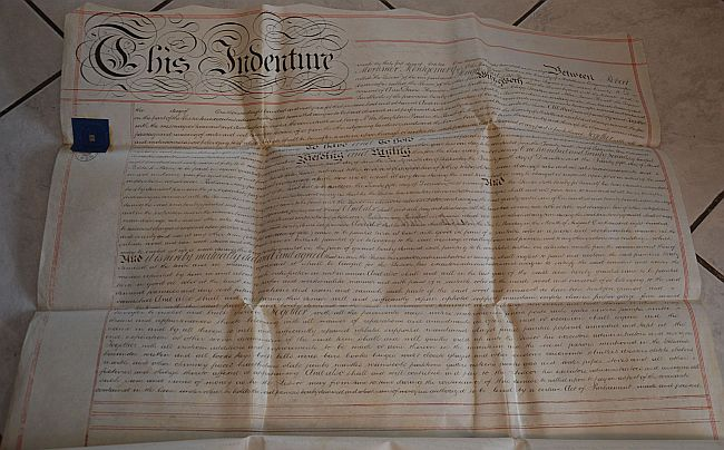 Historic and old Indentures from Great Britain