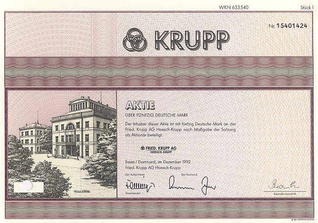 Krupp Aktie
