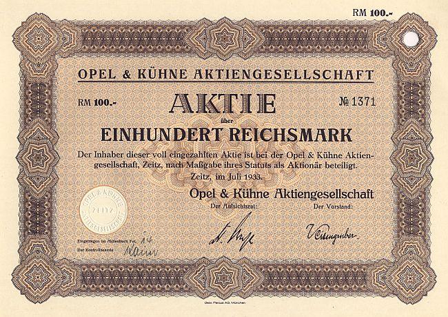 Opel Aktien