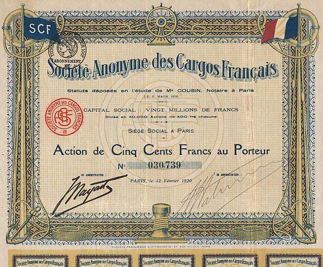 low cost low priced discount sale Société Anonyme des Cargos Français (SCF)