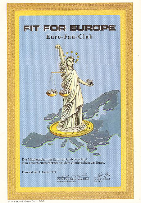 Fit for Europe (Euro Fan Club) historische Wertpapiere - alte Aktien
