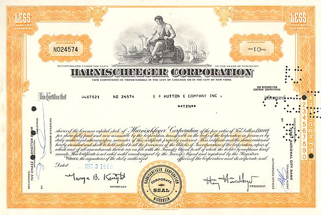 Fisher Foods, Inc. -  historic stocks - old certificates Food and Stimulants