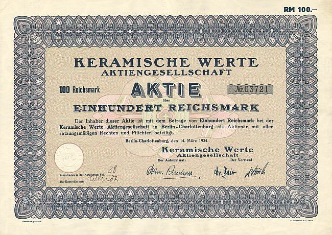 Keramische Werte AG  historic stocks