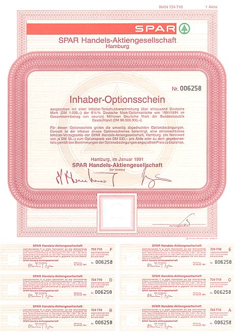 Spar handels aktiengesellschaft g nstige optionscheine Design firmen deutschland