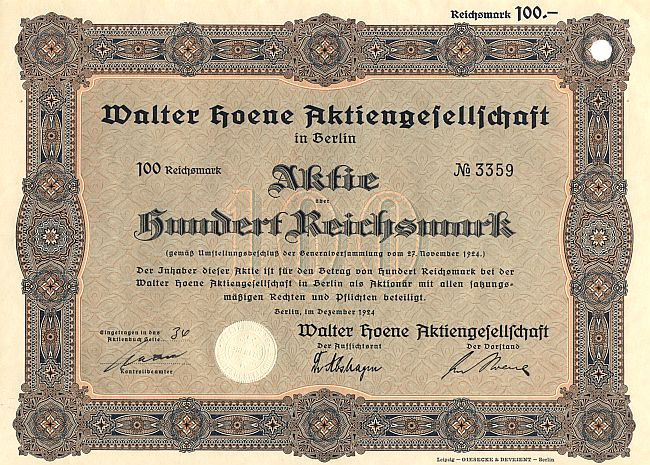 Walther Aktie