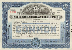 Air Reduction Company  historic stocks - old certificates