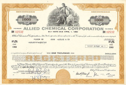 Allied Chemical Corporation  historic stocks - old certificates