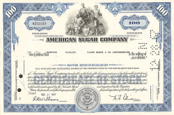 American Sugar Company -  historic stocks - old certificates Food and Stimulants