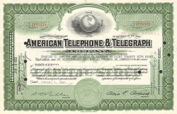 American Telephone and Telegraph Company (AT&T alte Ausgabe) -  historic stocks - old certificates Telecommunication