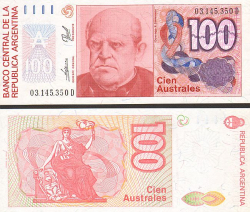 Argentinien 100 Australes 1985-1990 - bill - paper money
