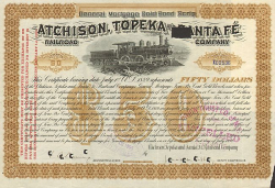 Atchison, Topeka and Santa Fe Railroad Company (Gold Bond Scrip) -  Eisenbahn