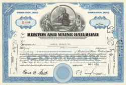 Boston and Maine Railroad (less than 100 Share) -  historic stocks - old certificates Railroads