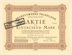 Brikettwerke Friedland AG  historic stocks