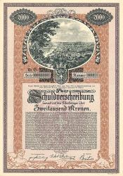 Bundeshauptstadt Wien -  historic stocks - old certificates Cities and States