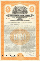 Central Pacific Railway Company  historic stocks - old certificates