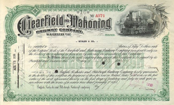 Clearfield and Mahoning Railway Company -  Eisenbahn