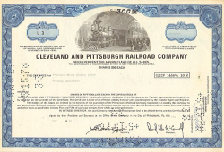 Cleveland and Pittsburgh Railroad Company (div. Shares) -  Eisenbahn