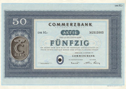 Commerzbank (1971)  historic stocks - old certificates