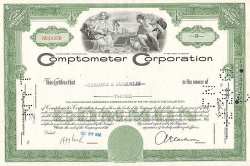 Comptometer Corporation  historic stocks - old certificates