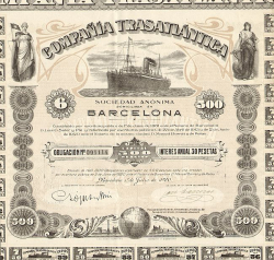 Compania Trasatlantica (Obligation) -  historic stocks - old certificates Shipping