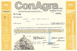 Conagra, Inc.  historic stocks - old certificates