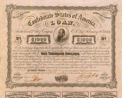 Confederate States of America (Loan 1000$ 1863) -  Staatspapiere